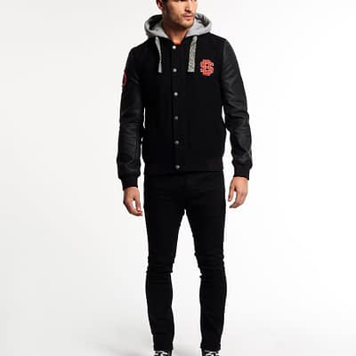 LBASUP27_SUPERDRY_Men's_Comet_Bomber_Black_Front