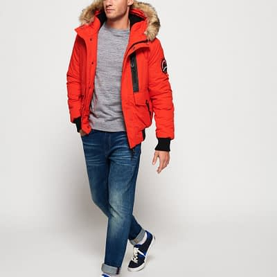 LBASUP21_SUPERDRY_Men's_Everest_Bomber_Orange_Main1