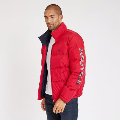 LBANAU3_NAUTICA_Men's_Arctic_Puffer_Bomber_Jacket_Red_Turn