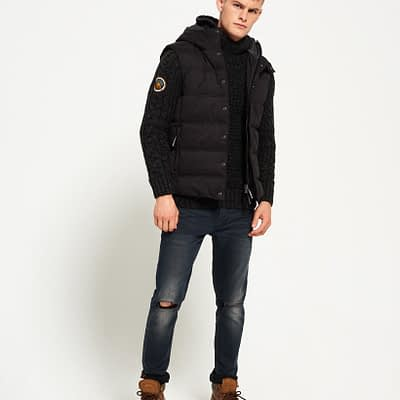LBASUP20_SUPERDRY_Men's_Microfibre_Gilet_Black_Main